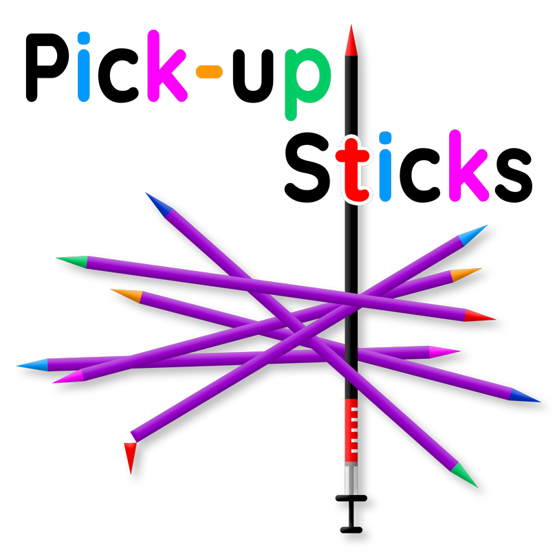 Pick-up sticks book cover